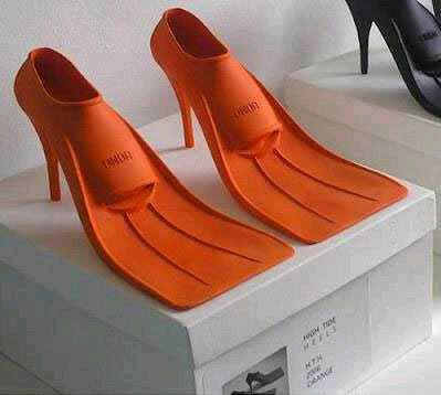 High Heeled Flippers