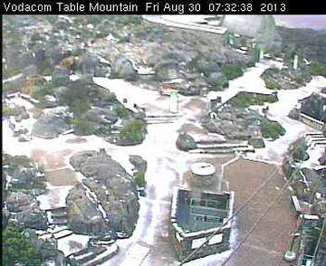 Snow on Table Mountain
